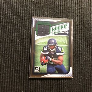 sale retailer 87f1c 6f9ff Details about 2018 DONRUSS RASHAAD PENNY *ROOKIE THREADS FACTORY SET  JERSEY* SEATTLE SEAHAWKS