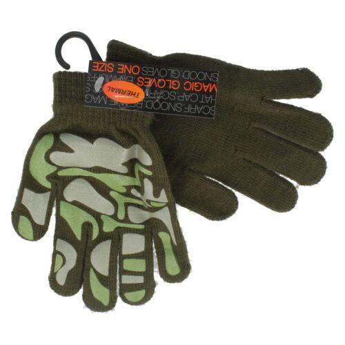 Boys RJM One Size Thermal print Magic Gloves GL111