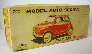 Repro Box Bandai Nº 743 Fiat 600-afficher Le Titre D'origine Garantie 100%