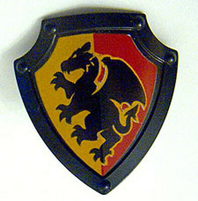 LEGO Angled Triangle with Black Dragon Duplo Utensil Shield Black