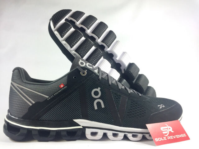 e4247a30c73f5 New Men's ON CLOUD Cloudflow in Black/Asphalt Running Shoes 154005 r1