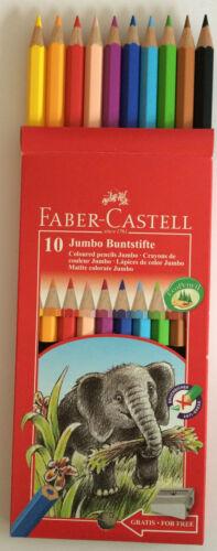 Faber-Castell 10er Jumbo Buntstifte Malstifte dicke Mine Malstifte Farbstifte