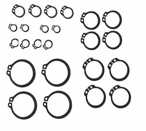 NEW 20 x Assorted External circlips 4 each of 24mm,25mm,28mm,30mm,32mm UK SELLER
