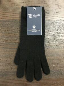 Women's Long Cashmere Gloves | Johnstons of Elgin | Made in Scotland | Black