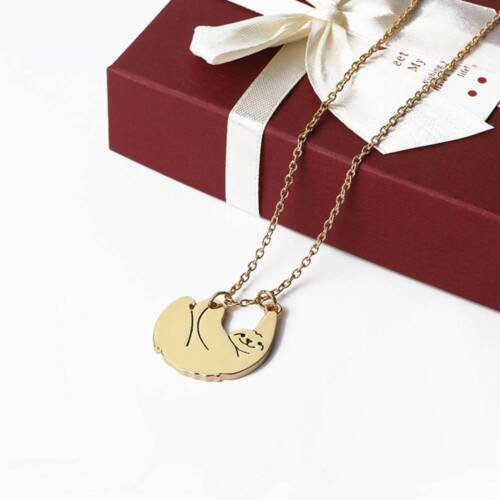 Cute Hanging Sloth Bear Necklace Charm Chain Pendants Gifts Animal Jewellery HOT