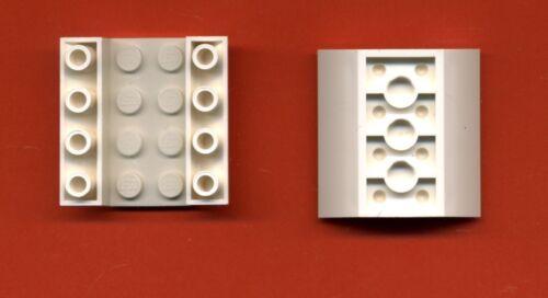 Weiß 4 x 4-45° Dachstein Lego--4854--Schrägstein -2 Stück -negativ-