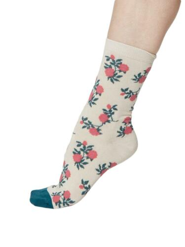 Ladies Bamboo Venitian Floral Design Socks 3 Pack Size 4-7 Thought Socks