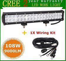 "17"" 108W CREE LED Light Bar Flood Spot Combo Off-road SUV Driving Lamp+ Wiring"