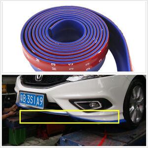 2-5-M-Auto-Azul-Parachoques-Delantero-Spoiler-Lip-Kit-Divisor-cenefa-Chin-Protector-Kits