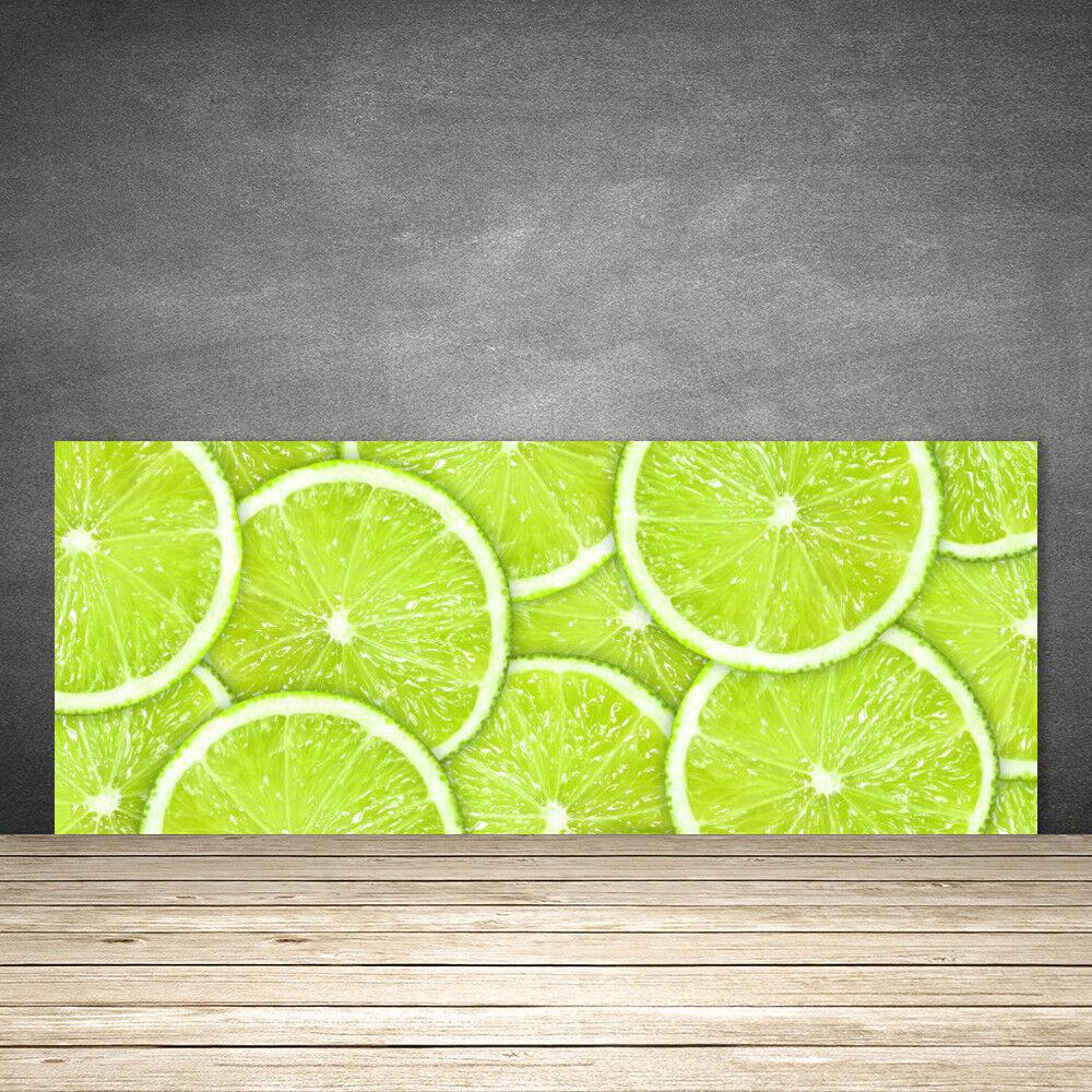 Crédence de cuisine en verre Panneau 125x50 Cuisine Citron Vert Lime
