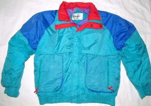Vintage Windbreaker Red Green Blue Ski Coat Jacket