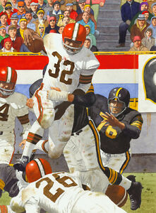 3e2915577c5 Image is loading JIM-BROWN-CLEVELAND-BROWNS-ART-PRINT-2