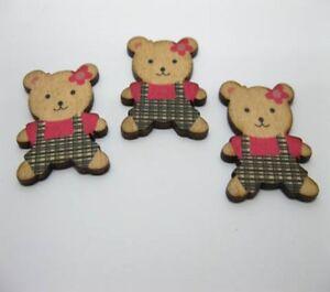 98-Bear-Craft-Embellishment-Scrapbooking-Black-amp-Fuschia