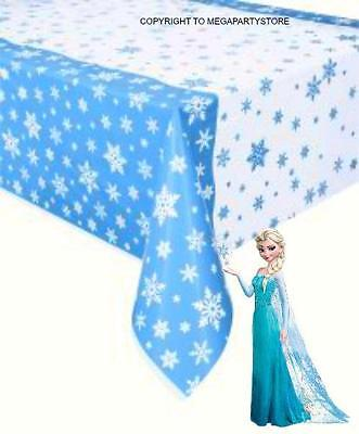 Light Blue & White Snowflakes Table Cover/Frozen Party Supplies/Xmas Parties
