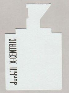 Carte à parfumer - perfume card - Alfred Dunhill
