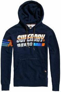 Détails sur Homme Superdry Super Surf Sweat à Capuche Pull Bleu afficher le titre d'origine