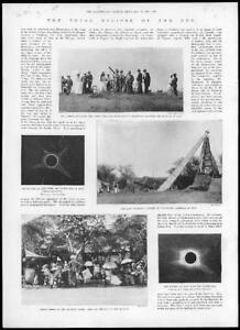 1898-Antique-Print-SCIENCE-Solar-Eclipse-Telescope-Arthur-Havelock-INDIA-54
