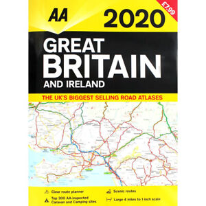 Map Of Ireland Uk.Details About Aa 2020 Road Atlas Map Great Britain Ireland Uk Brand New Latest Edition