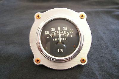 """Custom Aluminum Hot Rat Rod Bomber Gauge Rivet Panel Dash Gasser Bezel 2 1//16/"""""""