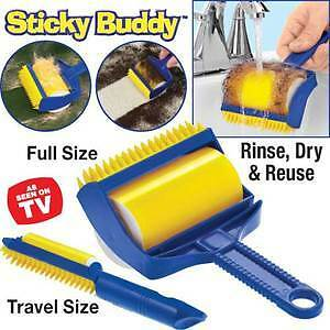 Reusable-Sticky-Buddy-Lint-Remover-with-free-travel-size-As-Seen-on-TV-FREESHIP