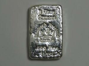3 Oz Silver Hand Poured Bar Monarch Metals Mpm Three