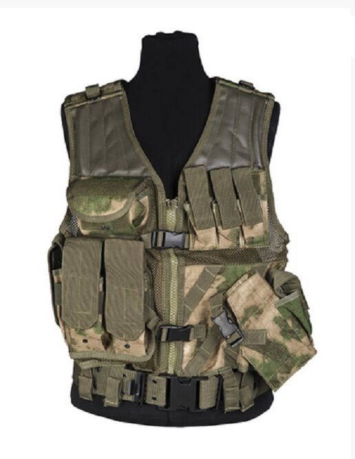 MOLLE ARMY Military CROSSDRAW TACTICAL ASSAULT Weste Vest Miltacs FG