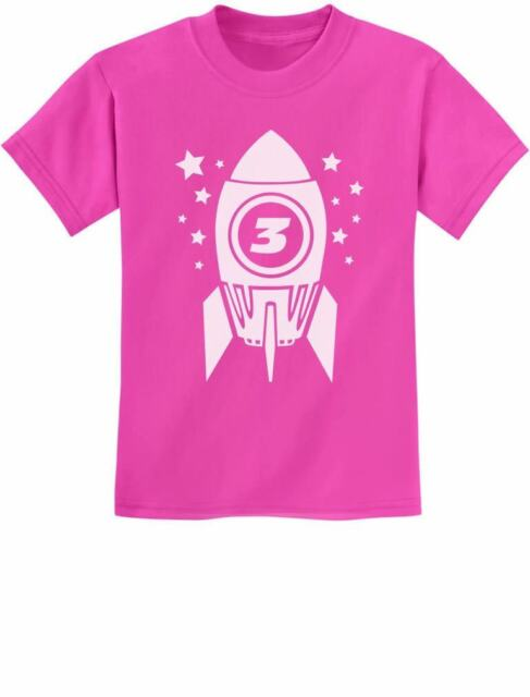 Gift for Three Year Old 3rd Birthday Space Rocket Toddler//Kids Sweatshirts 4T Red