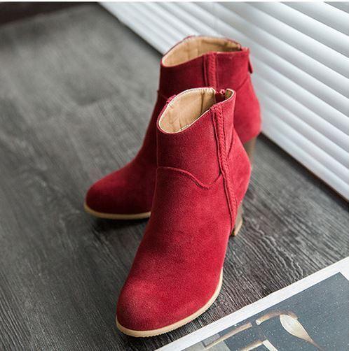 Stiefel schuhe de tacón damen 6 cm rot caldi caldi caldi cómodo como piel 8251 ada030