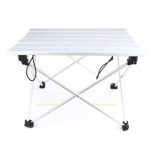 Image Is Loading Portable Aluminum Roll Up Table Folding Outdoor Camping