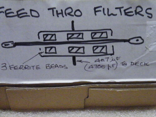 10 PC de alimentación a través del filtro de T 4n7 = 4700pF 500v Ferrita EC10