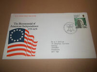 POST OFFICE FIRST DAY COVER BICENTENNIAL OF AMERICAN INDEPENDENCE 1776-1976