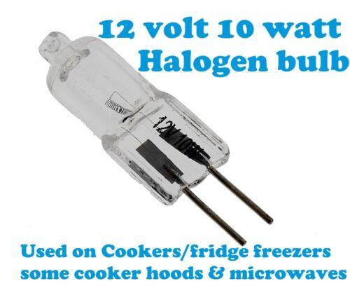 Gorenje 12V halogen lamp bulb  g4 socket 10w Oven Cooker Hood Extractor