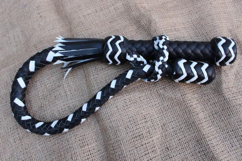 Negro Y blancoo Vaca Cuero Genuino Hecho a Mano nagayka volchatka 33