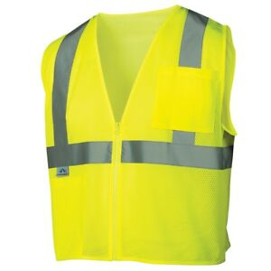 Pyramex-Class-2-Reflective-Mesh-Safety-Vest-with-Pockets-Yellow-Lime