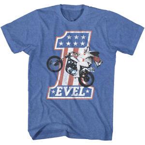 OFFICIAL-Evel-Knievel-Vintage-Stars-Bike-1-Men-039-s-T-Shirt-Stunt-Rider-Jump-Biker