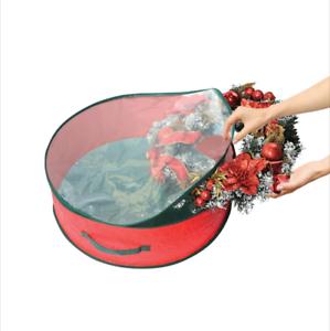 60-cm-Christmas-Xmas-Wreath-Garland-Zipped-Storage-Case-Bag-Cover-Carry-Handles