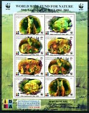 KIRGISIEN KYRGYZSTAN 2011 WWF Aufdruck Hologramm Kleinbogen ** MNH