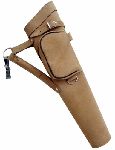. NEW TRADITIONAL FINE SUEDE TANNED QUIVER ARCHERY PRODUCTS AQ117 Right Hand