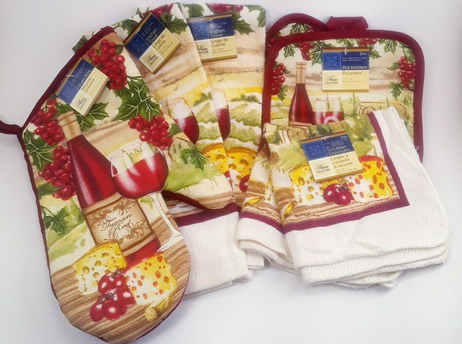 Home Collection Italian Chef Kitchen Towel Set With 2 Quilted Pot Holders 2 Dish Towels And 1 Oven Mitt 2 Kitchen Towels Kitchen Table Linens Home Kitchen Guardebem Com