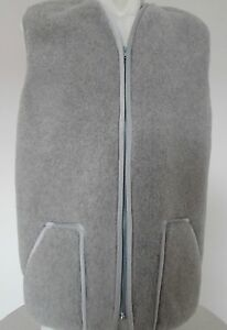 donna gilet argento di gilet grigio da lavoro lana da Gilet gilet da cerniera uomo wfSRIqR6