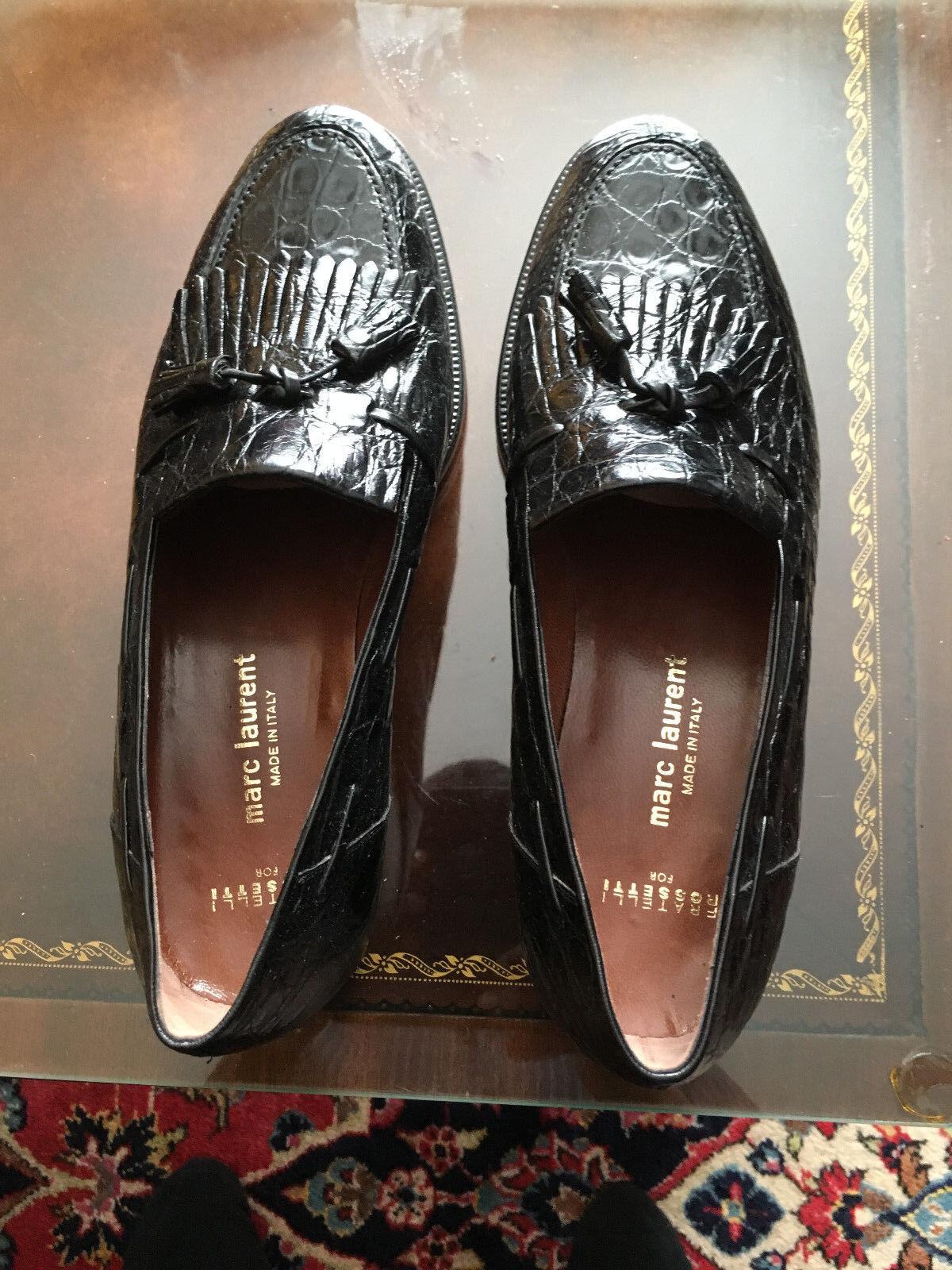 Fratelli Rossetti New nero Men's Full Crocodile scarpe Sz.9.5 See measurements