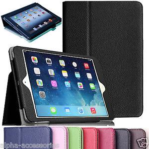 Para-Apple-Ipad-9-7-2017-2018-Aire-2-Piel-Tableta-Soporte-Inteligente