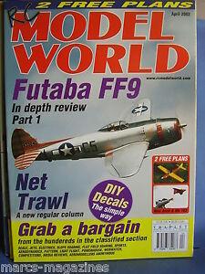 RCMW-RC-MODEL-WORLD-APRIL-2002-WEE-ANNE-amp-ME-163-PLANS-FUTABA-FF9-OSCAR-MIZZI