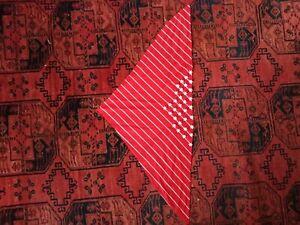 Vintage-70-039-s-Cotton-Scarf-Kerchief-Bandana-Resort-Mod-Beaded-Accent-Cute
