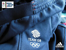 ADIDAS TEAM GB ISSUE - TRAINING FOR RIO OLYMPICS - ATHLETE BLUE SWEAT PANTS