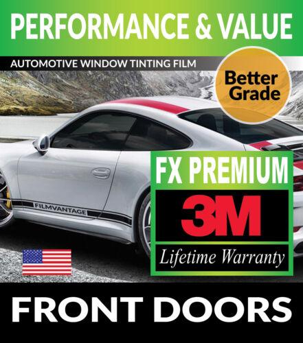 PRECUT FRONT DOORS TINT W// 3M FX-PREMIUM FOR GMC SIERRA 1500 CREW 14-18