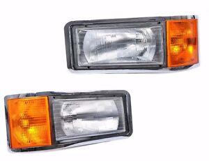 MACK-CL733-2001-2007-Headlight-with-Corner-Lamp-SET-PAIR
