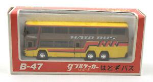 Diapet-Yonezawa-Toys-Japan-1-75-Double-Decker-Hato-Bus-B-47-MIB