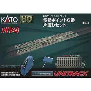 Kato-3-114-HV4-Interchange-Track-Set-With-6-Electric-Turnout-HO