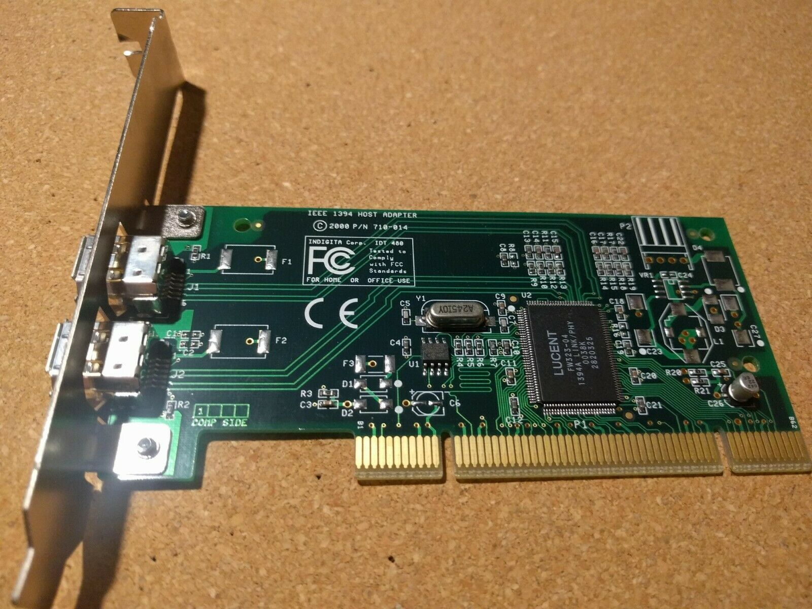 Host Adapter IEEE 1394 710-014 IDT 481 PCI Card Used